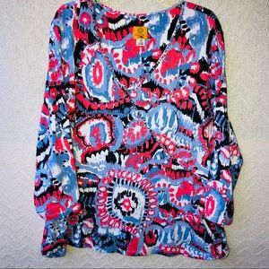 Ruby Rd 3/4 sleeve paisley blouse Sz 3X